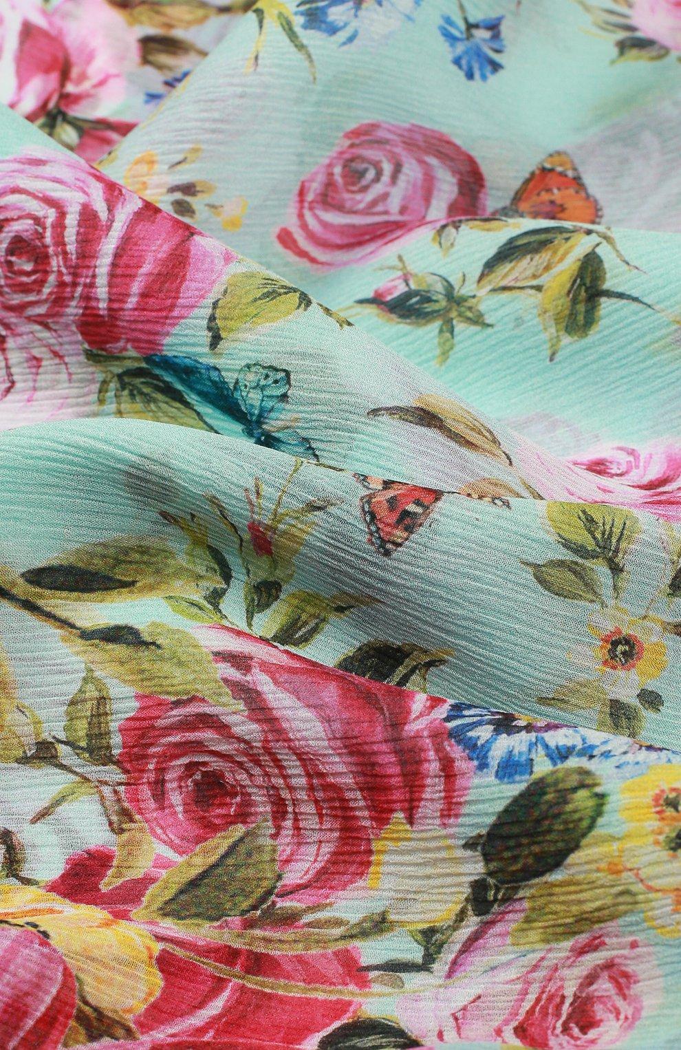Шелковый шарф с принтом   Фото №2
