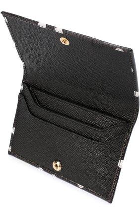 Кожаный футляр для кредитных карт с принтом | Фото №3
