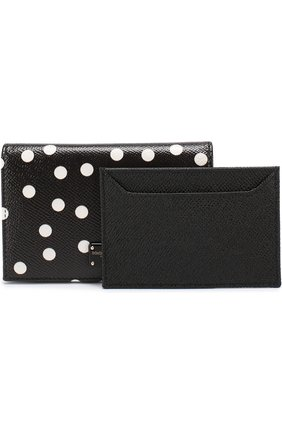 Кожаный футляр для кредитных карт с принтом | Фото №4