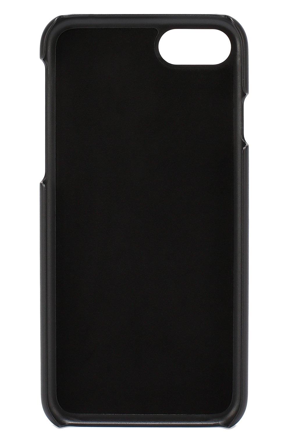 Кожаный чехол для iPhone 7 с цветочным принтом Dolce & Gabbana  | Фото №2