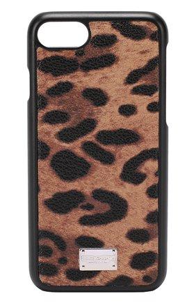 Чехол для iPhone 7 с леопардовым принтом Dolce & Gabbana  | Фото №1
