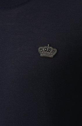 Кашемировый джемпер тонкой вязки с вышивкой на груди | Фото №5