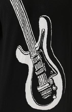 Шелковый джемпер с контрастным принтом Dolce & Gabbana черный | Фото №5