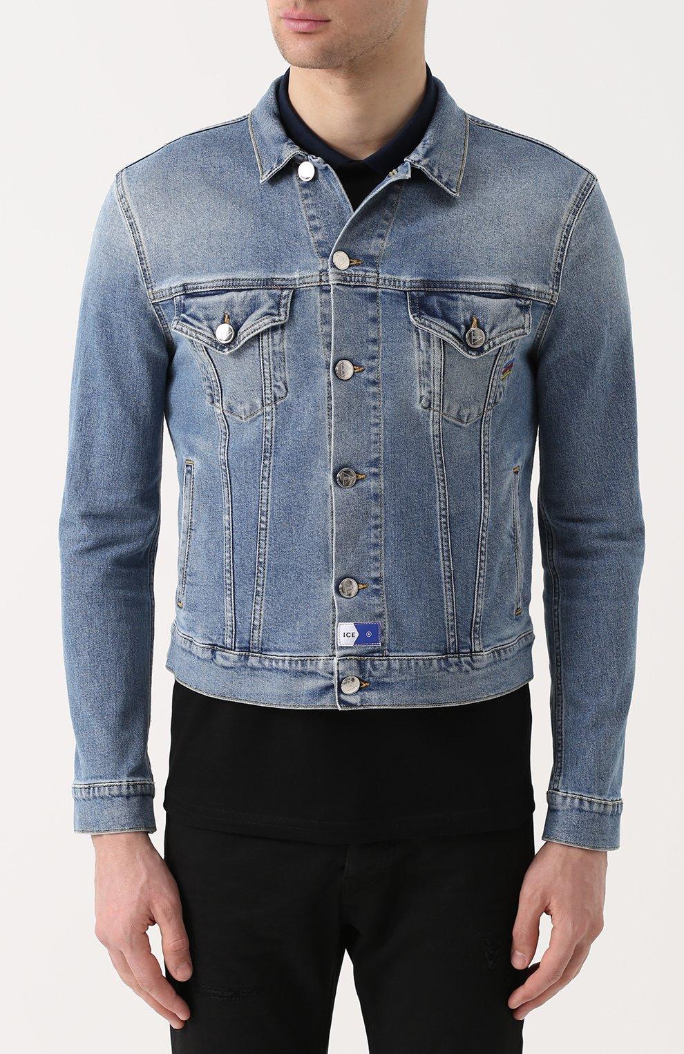 4dcb4493 Мужская синяя джинсовая куртка на пуговицах ICE PLAY — купить за ...