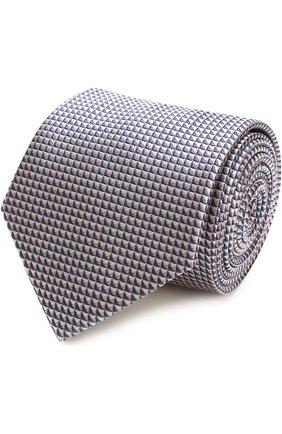 Мужской шелковый галстук с узором BRIONI розового цвета, арт. 062H/P6466 | Фото 1