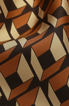 Мужской шелковый платок с узором TOM FORD темно-бежевого цвета, арт. 9TF81TF312 | Фото 2