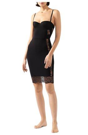 Женская приталенная сорочка с кружевными вставками LA PERLA черного цвета, арт. 905871 | Фото 2