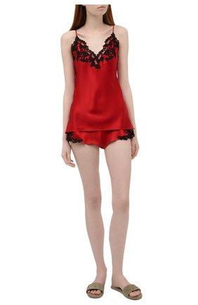 Женская шелковый топ LA PERLA красного цвета, арт. 0019225 | Фото 2