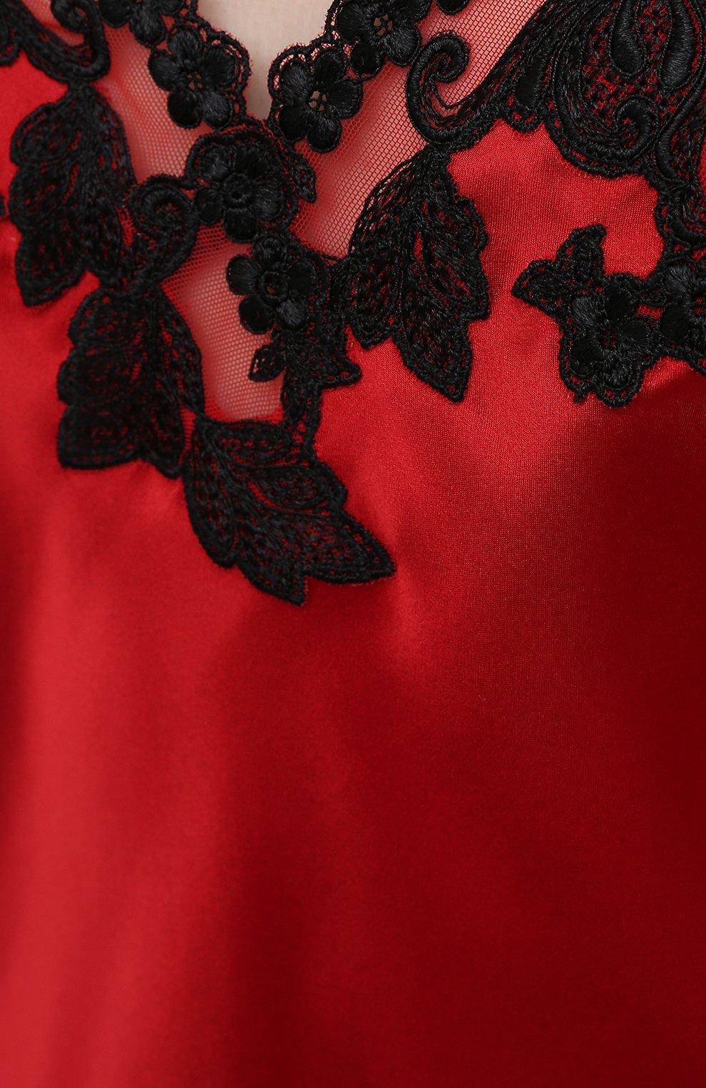 Женская шелковый топ LA PERLA красного цвета, арт. 0019225 | Фото 5