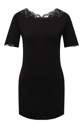 Женская хлопковая футболка LA PERLA черного цвета, арт. 0021083 | Фото 1