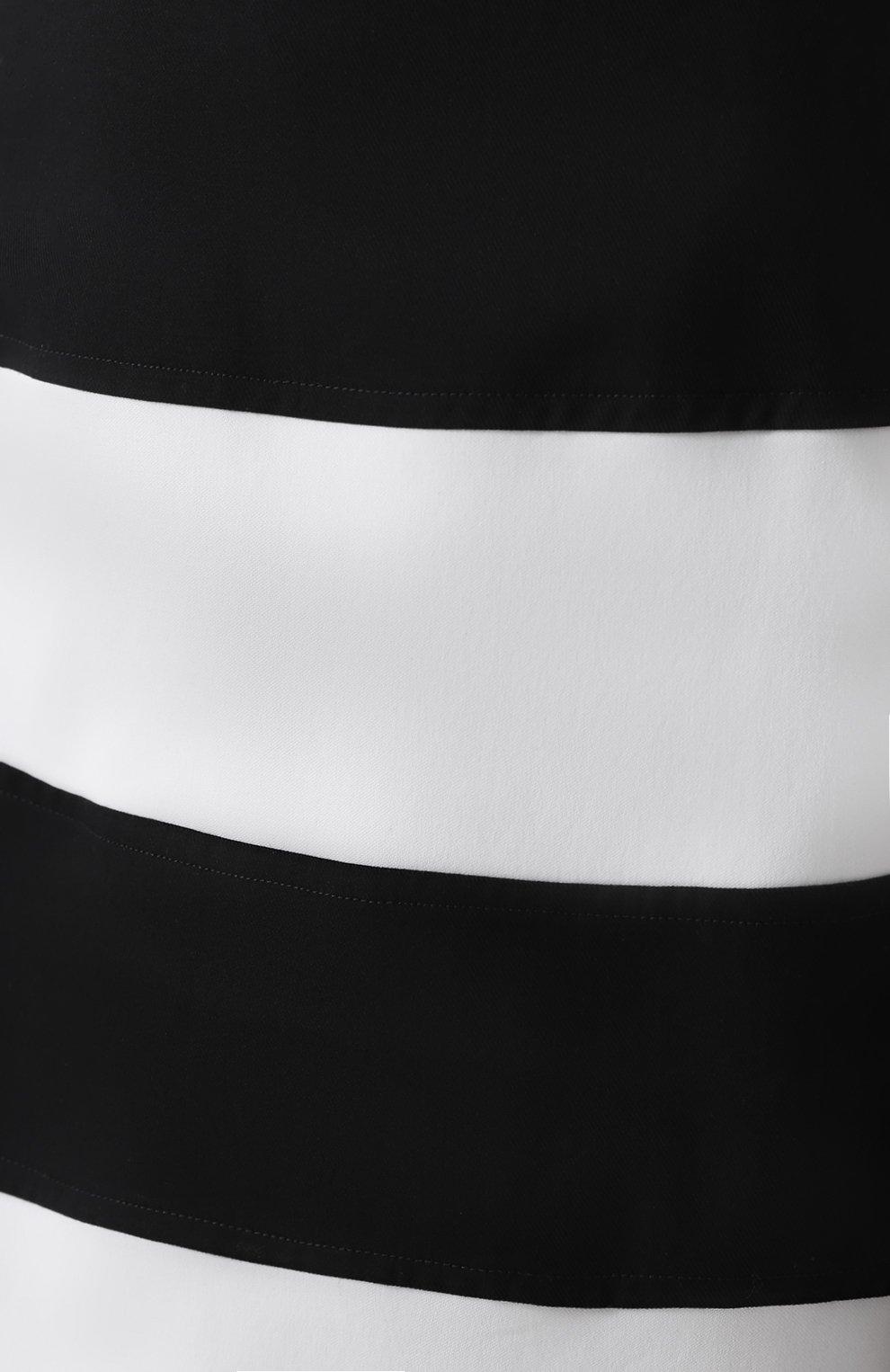 Юбка годе в контрастную полоску Dolce & Gabbana черно-белая | Фото №5