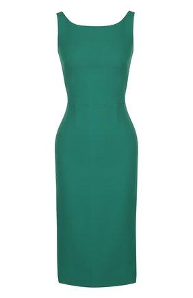 Приталенное платье-миди без рукавов Dolce & Gabbana зеленое | Фото №1