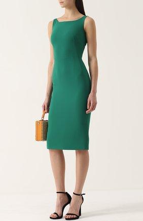 Приталенное платье-миди без рукавов Dolce & Gabbana зеленое | Фото №2