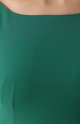 Приталенное платье-миди без рукавов Dolce & Gabbana зеленое | Фото №5