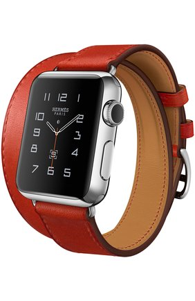 Apple Watch 38mm Stainless Steel Case Hermes Double Tour Leather Band   Фото №1