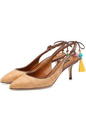 Плетеные туфли Bellucci с подвесками
