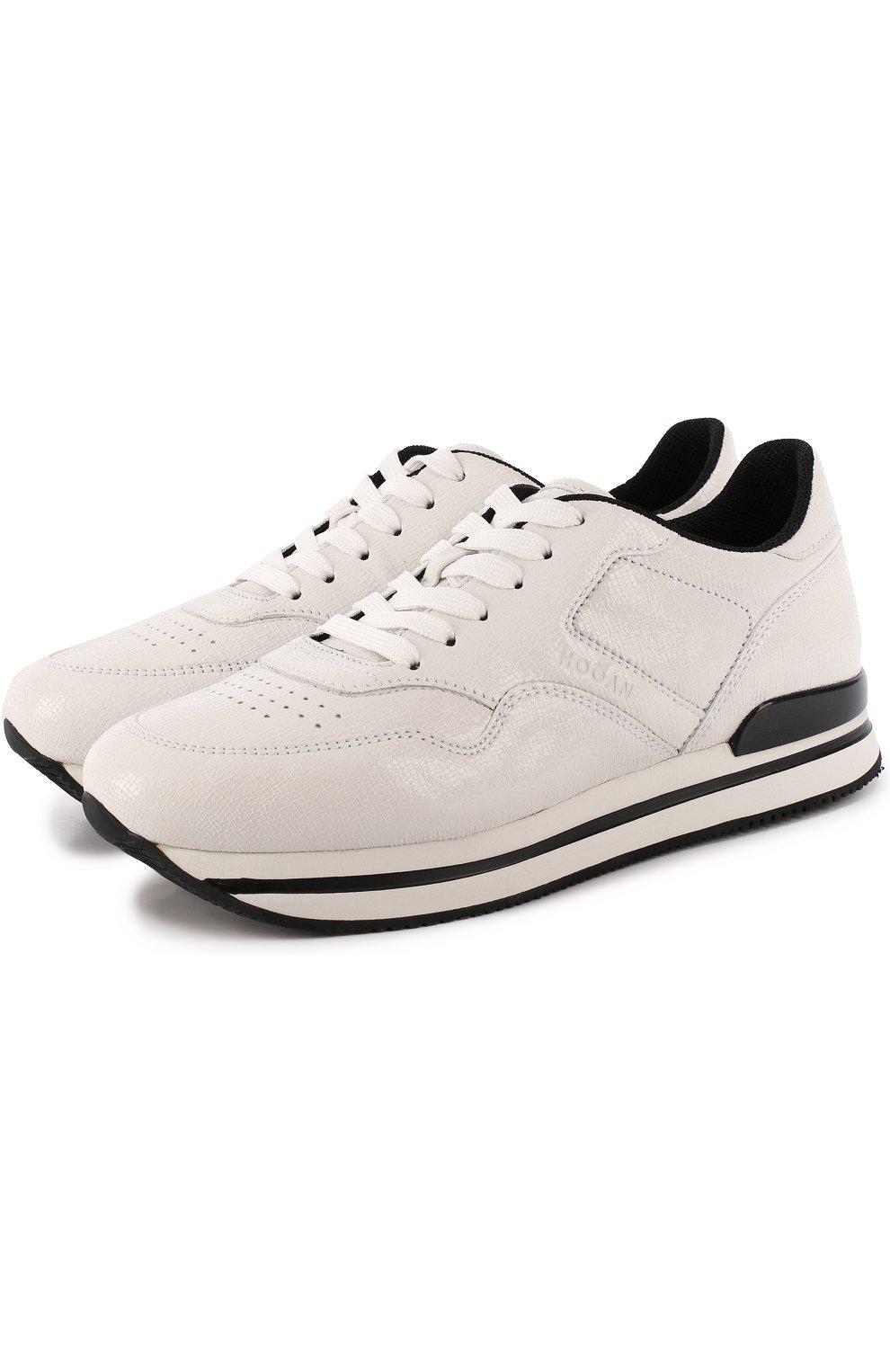 Кожаные кроссовки с перфорацией | Фото №1
