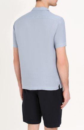 Льняная рубашка с короткими рукавами | Фото №4