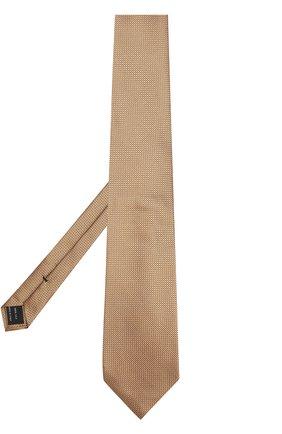 Мужской шелковый галстук с узором TOM FORD золотого цвета, арт. 9TF111TF | Фото 2