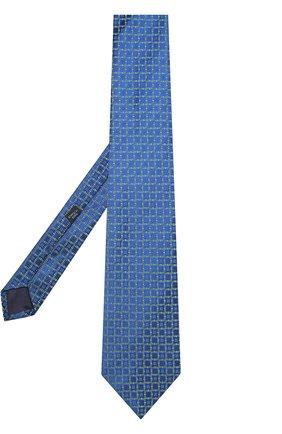 Шелковый галстук с узором Charvet зеленого цвета | Фото №1