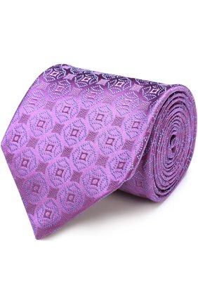 Шелковый галстук с узором Charvet бордового цвета | Фото №1