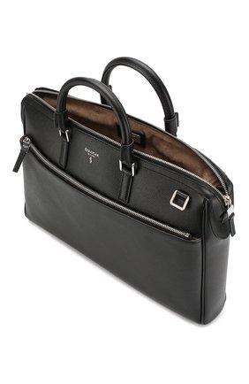 Кожаная сумка для ноутбука Serapian черная | Фото №4
