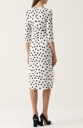 Приталенное платье в горох с укороченным рукавом Dolce & Gabbana черно-белое | Фото №4