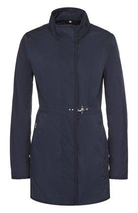 Приталенная куртка с воротником-стойкой и карманами