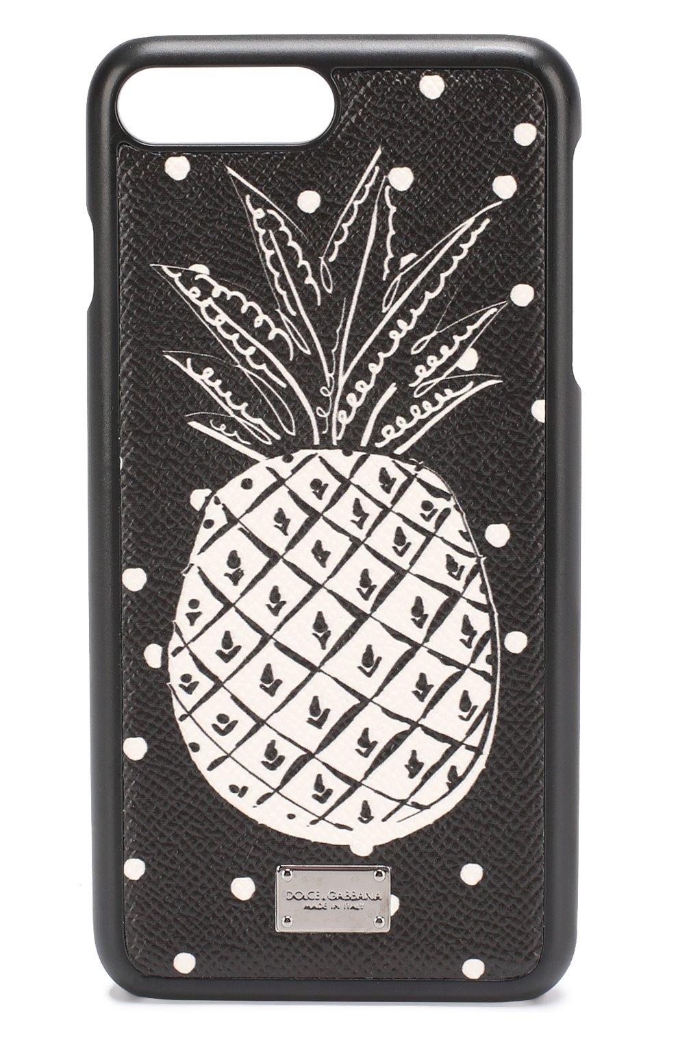 Кожный чехол для iPhone 7 Plus с принтом | Фото №1
