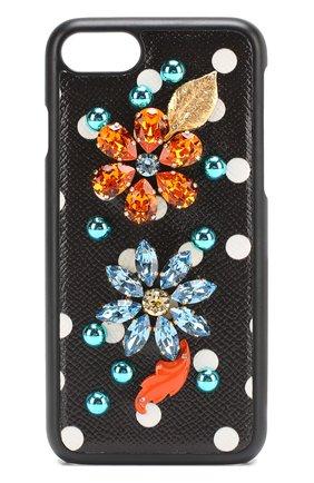 Кожный чехол для iPhone 7 с декором | Фото №1