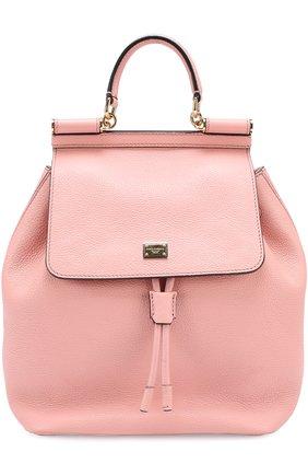 Рюкзак Sicily с клапаном Dolce & Gabbana розовый   Фото №1