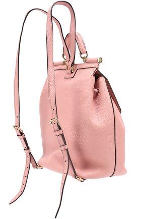 Рюкзак Sicily с клапаном Dolce & Gabbana розовый   Фото №2