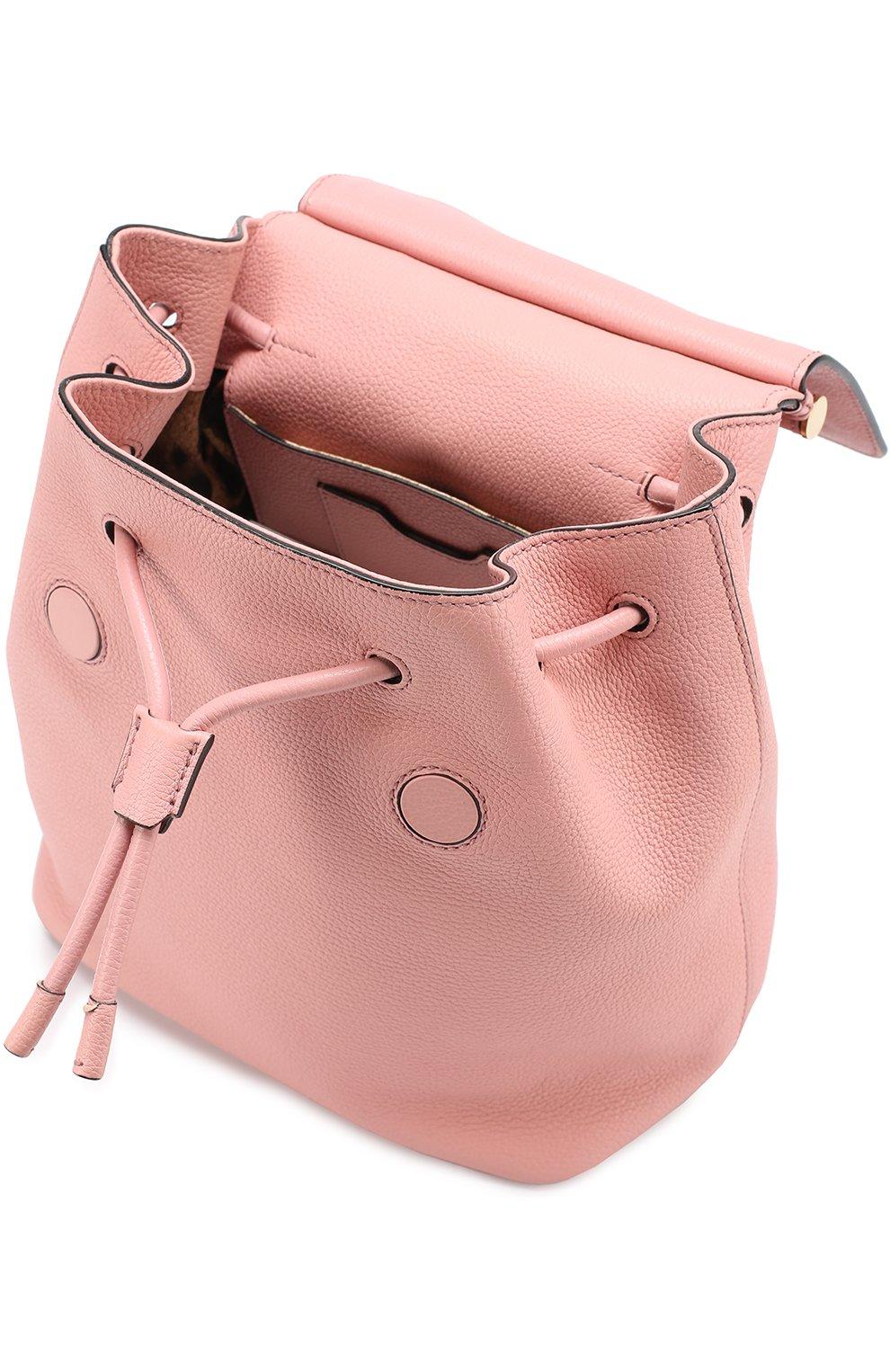 Рюкзак Sicily с клапаном Dolce & Gabbana розовый   Фото №3