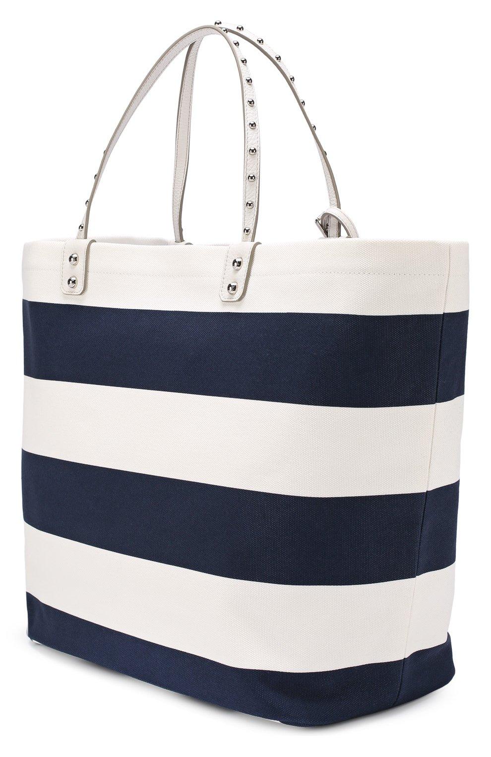 Текстильная сумка Beatrice с металлическим декором Dolce & Gabbana синяя цвета | Фото №2