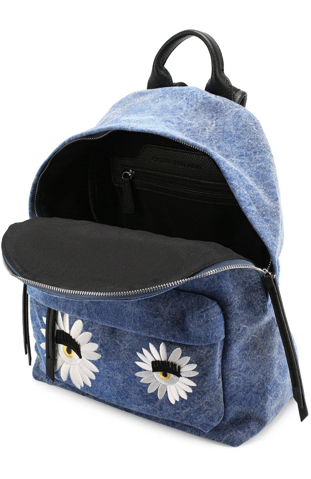 Текстильный рюкзак Flirting с вышивкой в виде цветов | Фото №4
