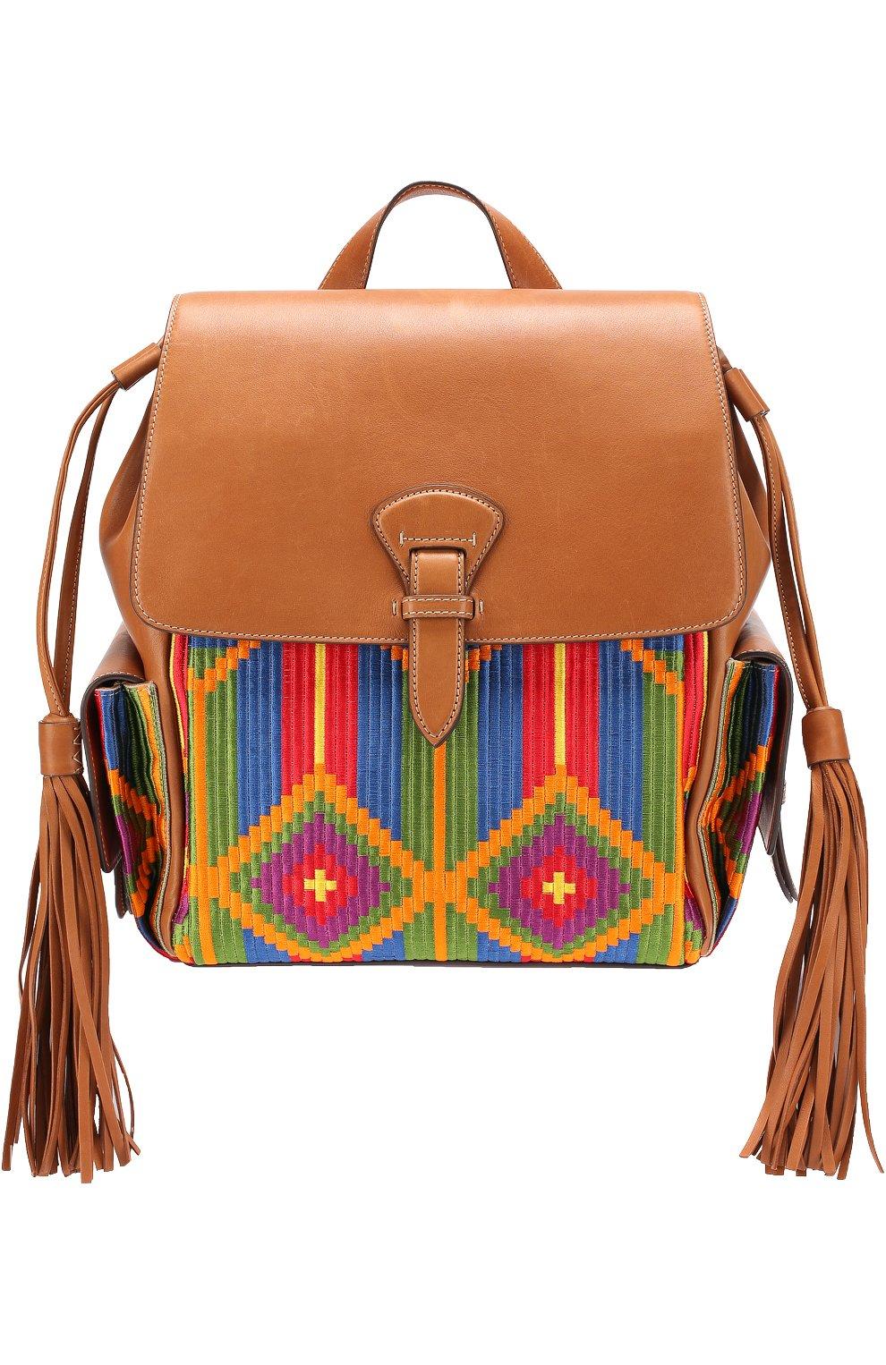 Рюкзак с отделкой текстилем | Фото №1