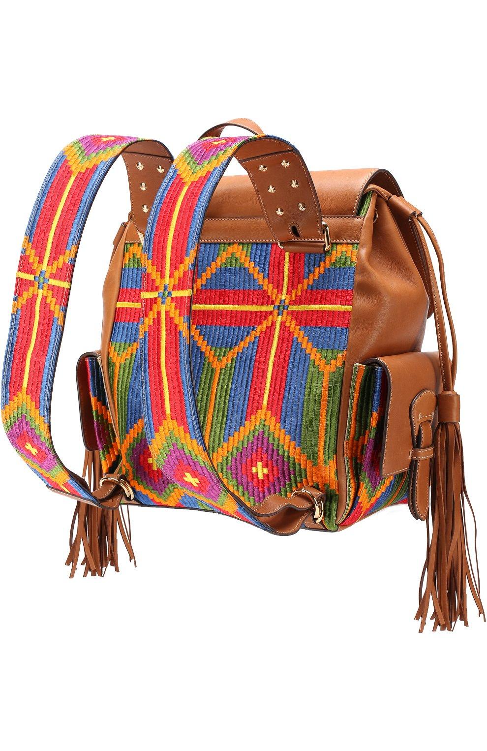 Рюкзак с отделкой текстилем | Фото №2