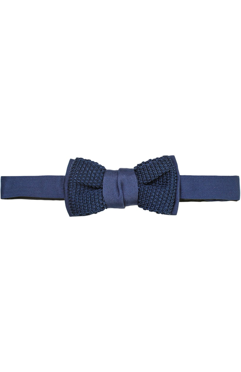 Мужской шелковый галстук-бабочка LANVIN темно-синего цвета, арт. 1993/B0W TIE   Фото 1 (Материал: Текстиль, Шелк; Статус проверки: Проверено, Проверена категория)