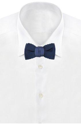 Мужской шелковый галстук-бабочка LANVIN темно-синего цвета, арт. 1993/B0W TIE | Фото 2