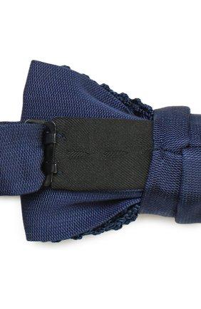 Мужской шелковый галстук-бабочка LANVIN темно-синего цвета, арт. 1993/B0W TIE   Фото 3 (Материал: Текстиль, Шелк; Статус проверки: Проверено, Проверена категория)