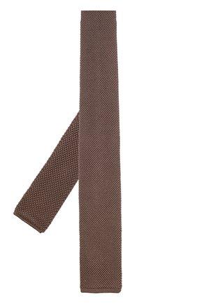 Мужской шелковый вязаный галстук TOM FORD бежевого цвета, арт. 9TF591MF | Фото 2