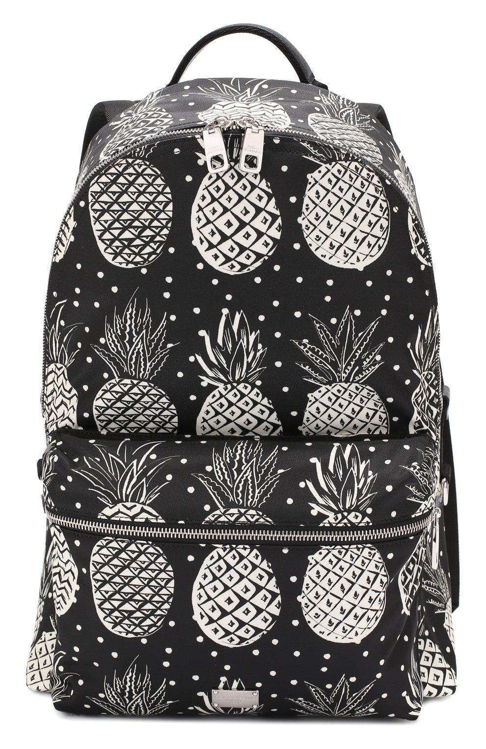 Текстильный рюкзак Vulcano с принтом и отделкой из натуральной кожи | Фото №1