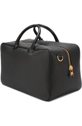 Мужская кожаная дорожная сумка TOM FORD черного цвета, арт. H0339F/C74 | Фото 2