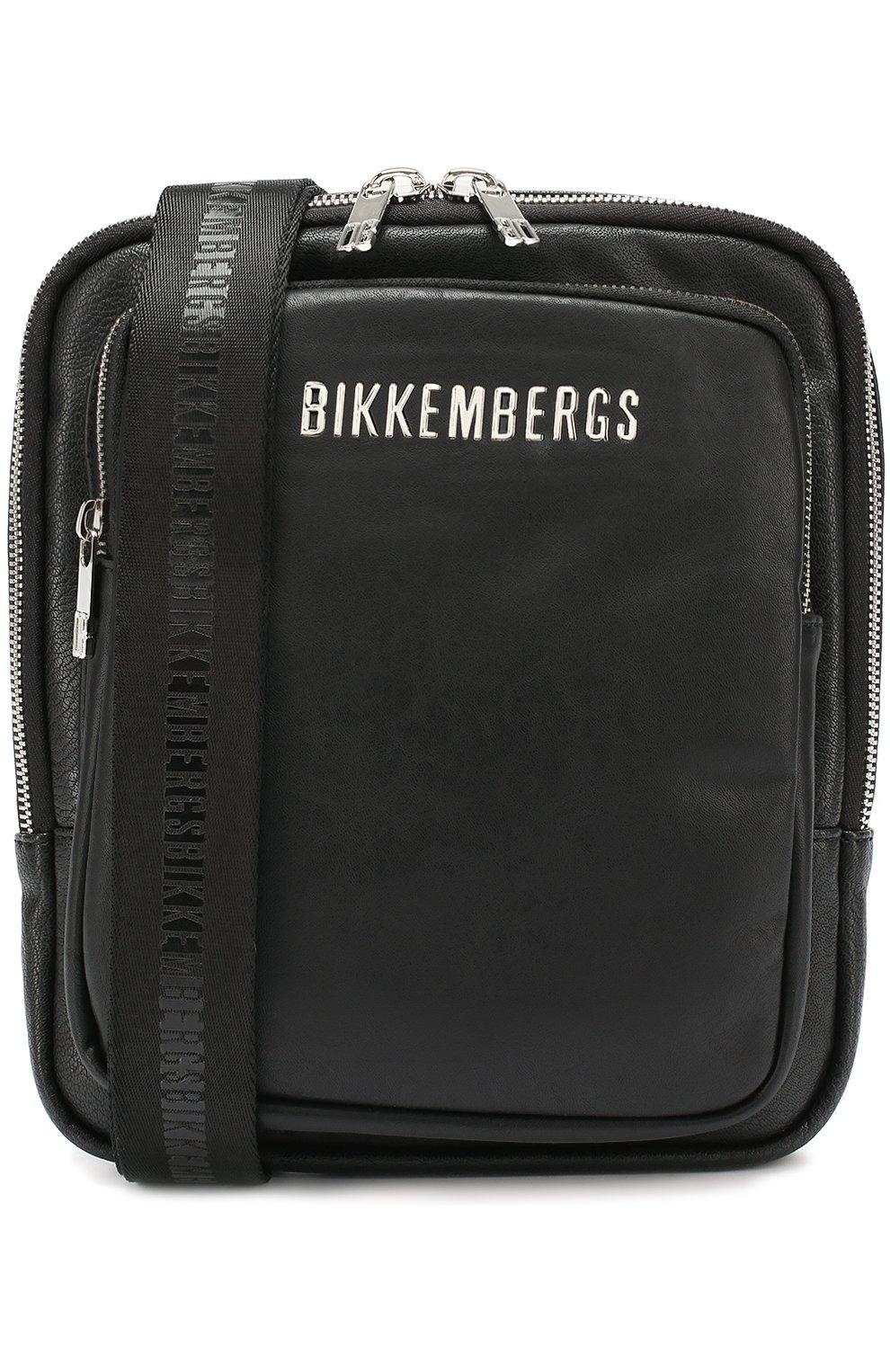 d5fcc0a8d20c Сумка-планшет с внешним карманом на молнии Dirk Bikkembergs черная   Фото №1
