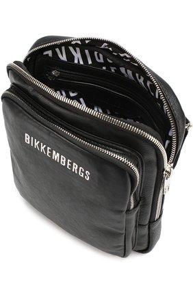 320ed0019933 Сумка-планшет с внешним карманом на молнии Dirk Bikkembergs черная   Фото №3