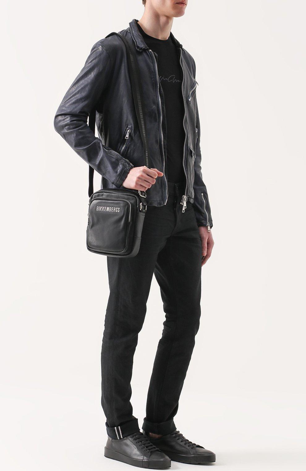 9618765ada2c Сумка-планшет с внешним карманом на молнии Dirk Bikkembergs черная   Фото №2