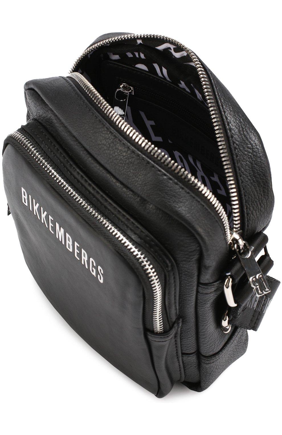 c7d517004203 Сумка-планшет с внешним карманом на молнии Dirk Bikkembergs черная   Фото №4