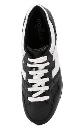 Кожаные кроссовки на контрастной платформе   Фото №4