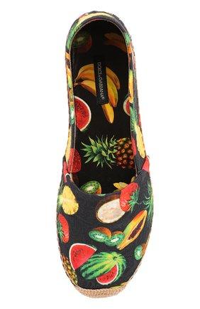 Текстильные эспадрильи с принтом Dolce & Gabbana черные | Фото №4