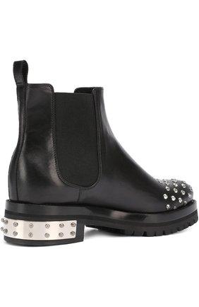 Кожаные ботинки с заклепками | Фото №3